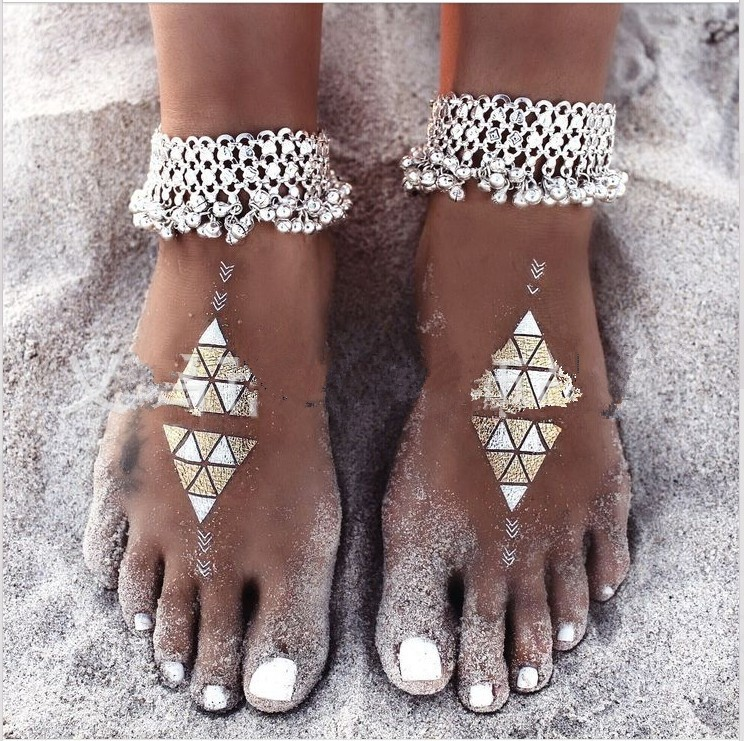B-0640 Korean style silver plated bell bead foot chain fashion anklet for women jewelry adjustable, anklet - idealway_img1.cdn.tradevv.com_3