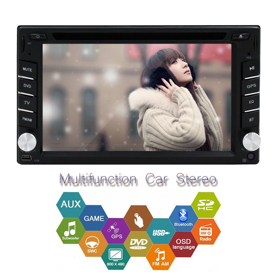 2 Din In Dash GPS Navigation Car Auto radio Headunit Free Map Card Car DVD Player HD Touchscreen Car Stereo Bluetooth MP3/MP4(China (Mainland))