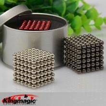 Heißer verkauf 5mm Größe 216 magnetkugeln grade n35 Magie spielzeugpuzzlespiel magnet block cubo magico Bildung spielzeug +metal box+bag+card(China (Mainland))