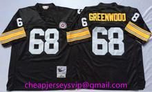 Stitiched Pittsburgh Steelers Troy Polamalu Heath Miller Joe Greene Hines Ward Antonio Brown L.C. Greenwood mens Throwback(China (Mainland))