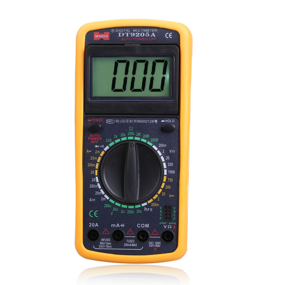 Large LCD display High Accuracy DT9205A AC/DC Digital Multimeter Voltmeter Ammeter Tester Meter Ohmmeter Best Price SGG#(China (Mainland))