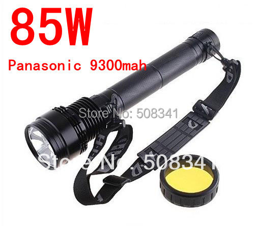 Newest Version 85W HID Xenon Torch Flashlight 8500LM 9300mAh For Hunting, Super(China (Mainland))
