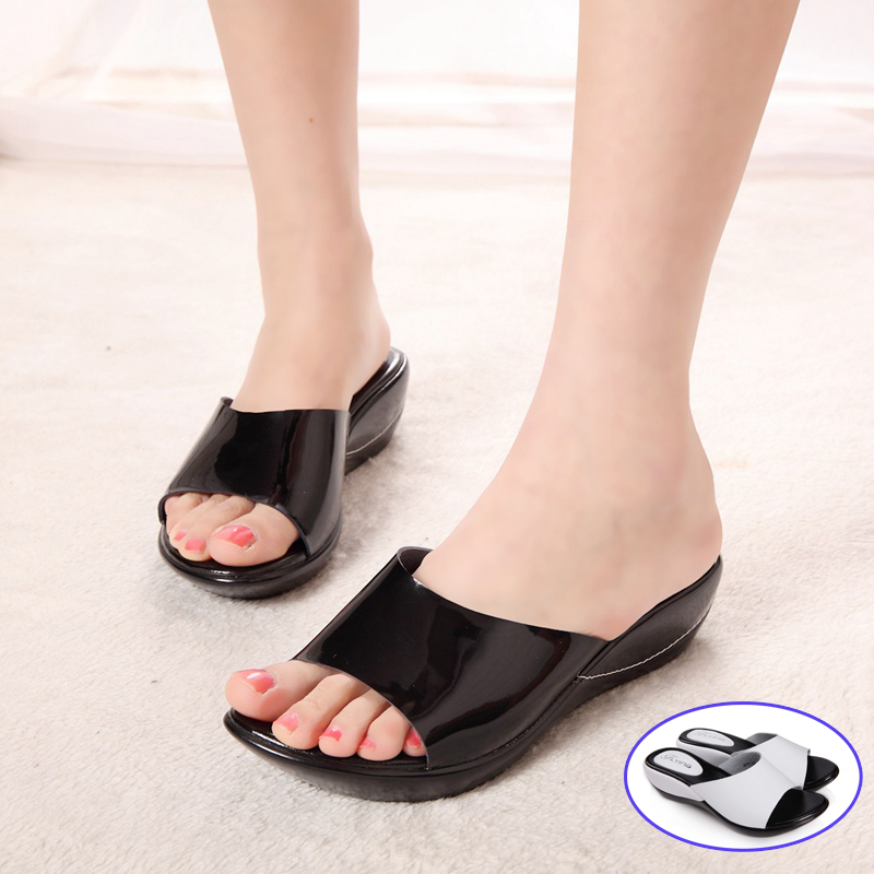 2016 summer women sandals genuine leather women wedges platform sandals shoes for ladies casual sandals slippers shoes women(China (Mainland))