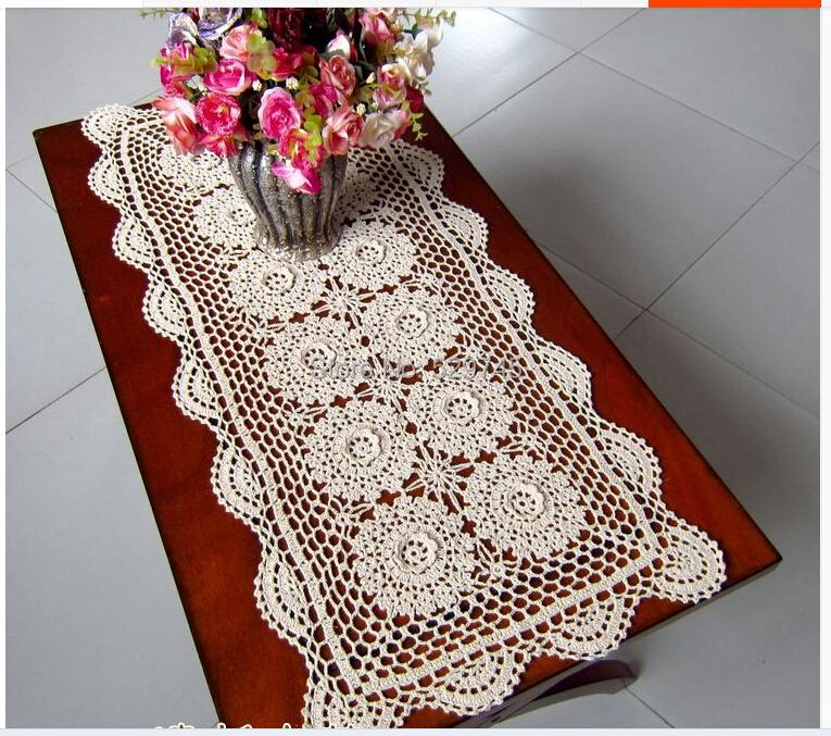 2014 New Three Dimensional Flowers Crochet Cotton Doilies