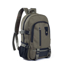 Women Men Sport Style Canvas Backpacks Natural Color Outdoor Design School Backpacks Casual Computer Backpack Travel Bags New(China (Mainland))