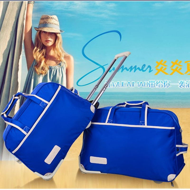 New arrival trolley bag luggage bag female male big capacity travel bag commercial waterproof folding bag boarding(China (Mainland))