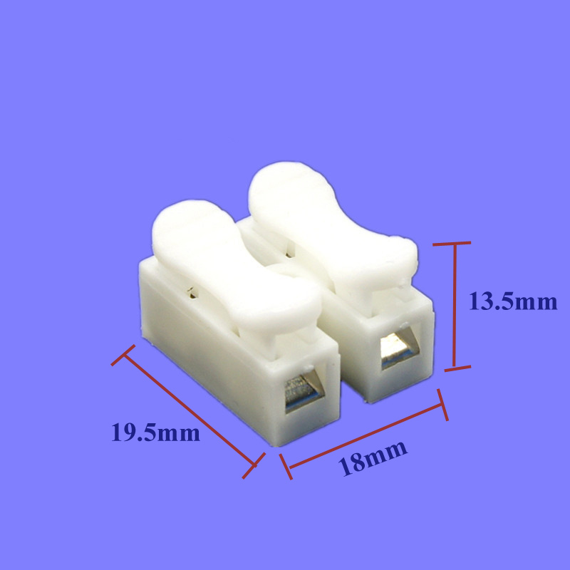 500pcs/lot High Quality Brand NEW CH-2 Press Type Electric Connection Quick Wiring Terminal for LED Lighting ect(China (Mainland))