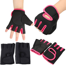 Exercise Weightlifting Anti-skid Gloves Training Half Finger Black Size S