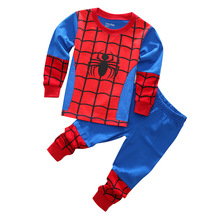 Baby Boys Spring Autumn Spiderman Sports suit 2 pieces set Tracksuits Kids Clothing sets 90-130cm Casual clothes T shirt+Pant - Angel's Closet store