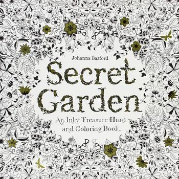 Английский языки секретный сад : Inky охота за сокровищами и книжка-раскраска снять стресс убийство срок граффити живопись рисунок книга