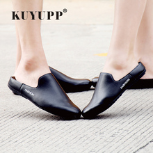 Buy Summer Slippers Valentine Shoes Casual Leather Flat Heel Men Loafers Fashion Round Slip Plus Size Women Flats Unisex Shoes F8 for $19.93 in AliExpress store