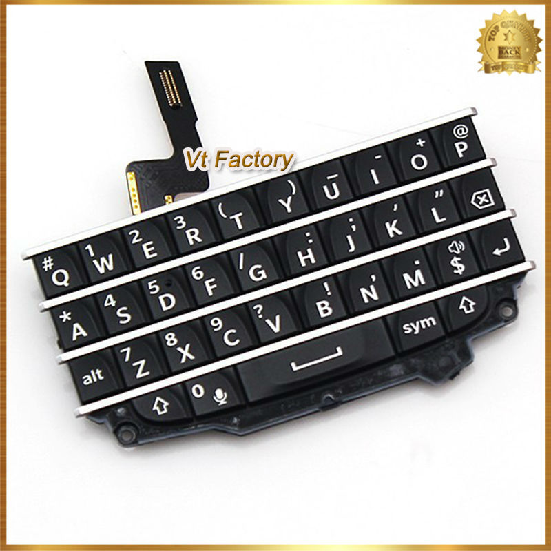100% New Black Keypad Repair Parts For Blackberry Q10 Keypad English Keyboard With Flex Cables Free Shipping+Tracking Number(China (Mainland))