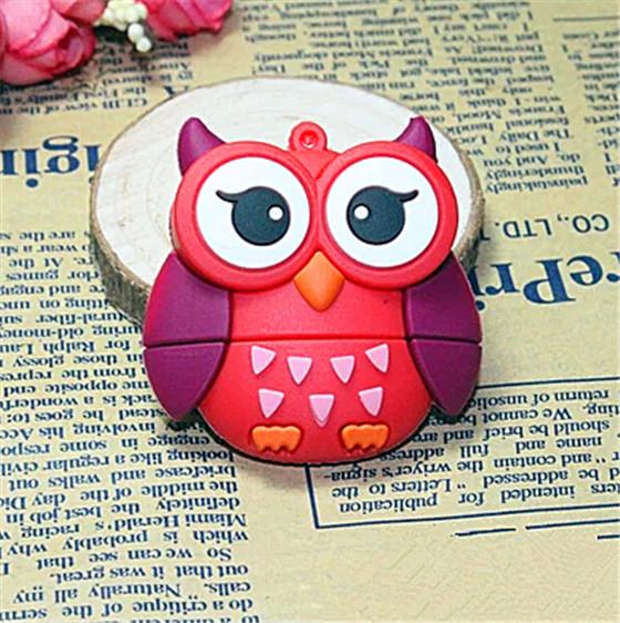 Hot sale New style red owl/fox/bee/bird usb flash drive USB 2.0 memory stick pen drive 8GB16GB 32GB cartoon(China (Mainland))