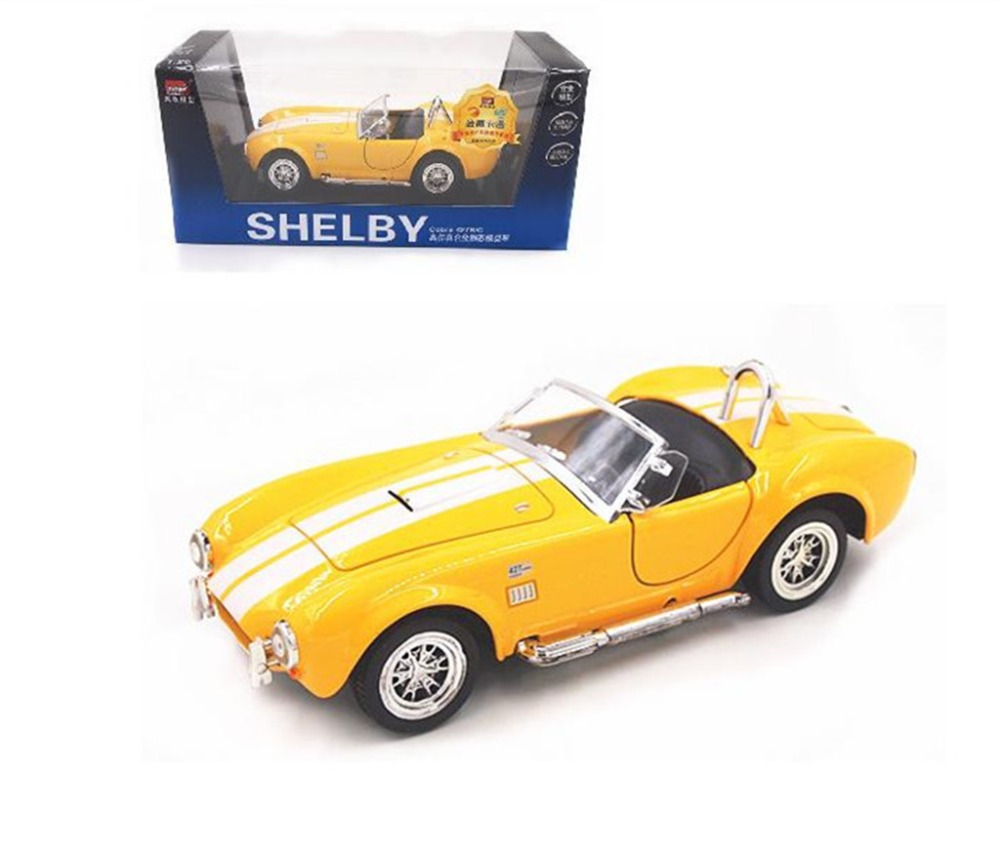 1:26 Ford 1965 Shelby Cobra 427S/C Metal Diecast Model Toy Car Yellow New In Box(China (Mainland))