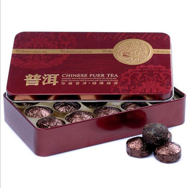 Hot Black Tea Flavor Pu er Puerh Tea Chinese Mini Yunnan Puer Tea Gift Tin box