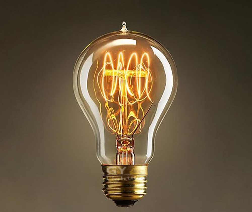 Fashion Antique Vintage World Edison light Bulbs 25/40/60W 110V 220V 240V Tube filament Tungsten,Home Decor GY-EB-A19(China (Mainland))