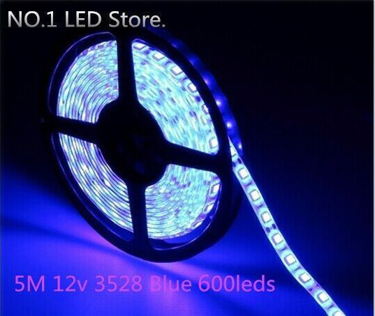 !! 50M 3528 Blue SMD Flexible Strip 120leds/M non-waterproof Light Lamp DC 12V - NO.1 LED Store store