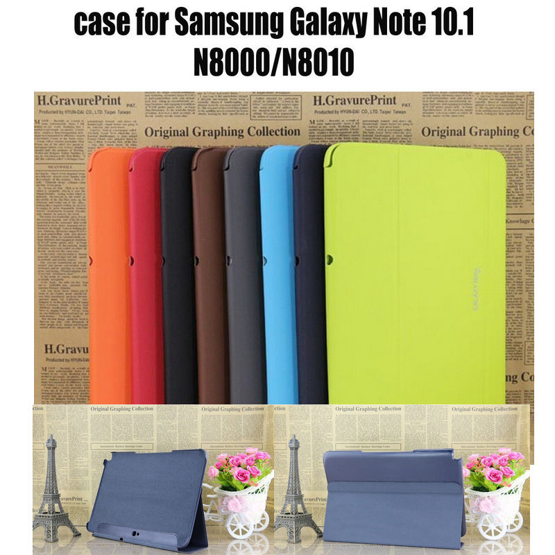leather Shell cover case for Samsung Galaxy Note 10.1 N8000 N8010 N8020 10.1 tablet case cover+screen stylus pen free shipping<br><br>Aliexpress