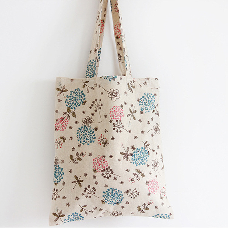1-layer Cotton Linen Eco Reusable Shoulder Bag Shopping Tote Trees Eco-Friendly Resuable storage Bag(China (Mainland))