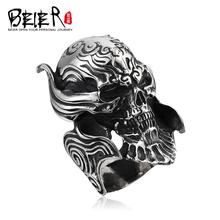 Beier 925 стерлингового серебра 2015 punk ГАРО основного кольца человек ювелирные изделия D0139(China (Mainland))