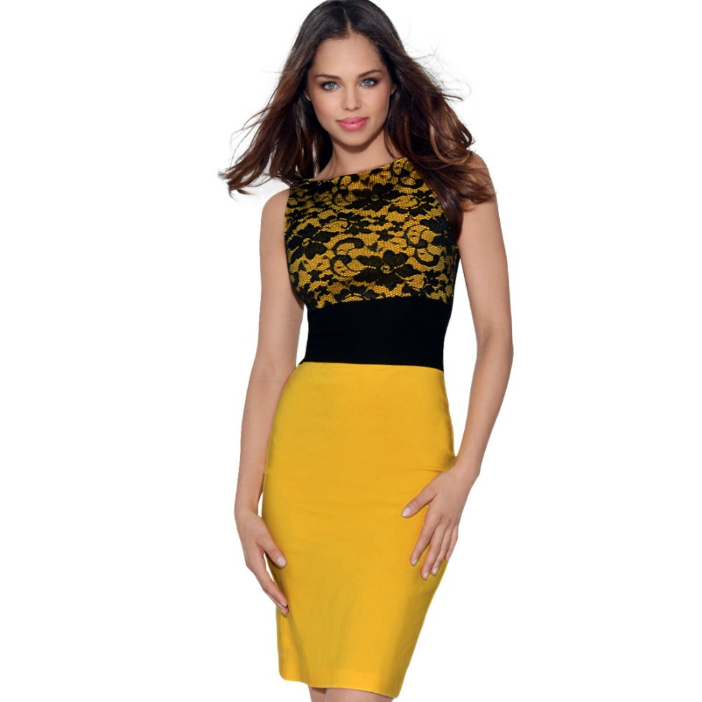 Black and Yellow Dress | Dress images