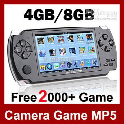 4.3 LCD Game Console PMP MP4 MP5 Player 8GB Free 2000+ games Media Player AV-Out/FM with Camera(China (Mainland))