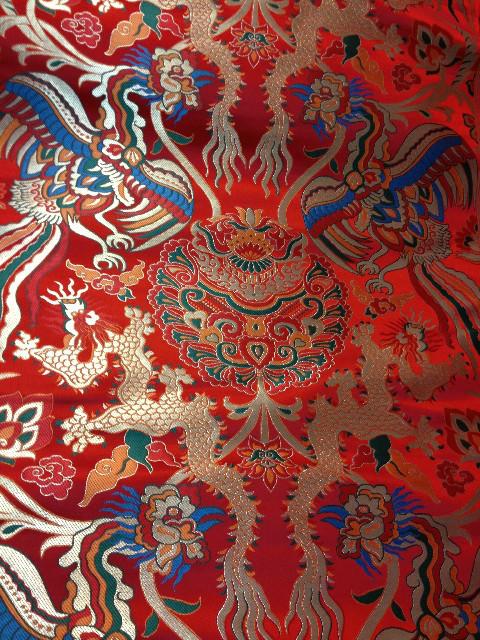 Fabrics Textile Chinese Silk Tapestry Satin Dragon