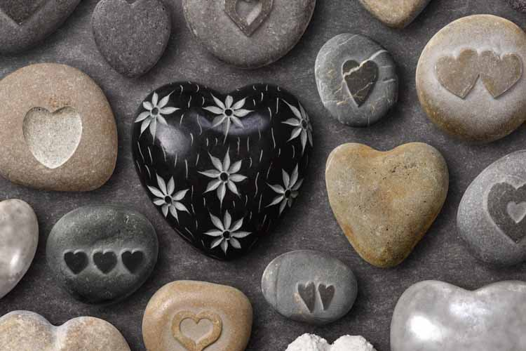 Best selling 2015 heart love stone rocks wall decals art for Selling wallpaper
