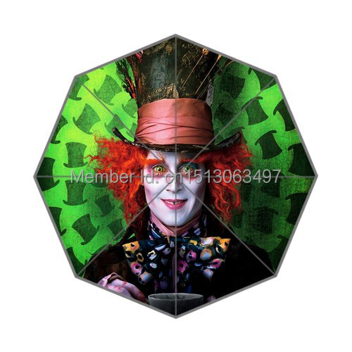 2014 New Personalized Umbrella Hot Design Fairy Alice in Wonderland Printing Auto Umbrella Good Gift(China (Mainland))