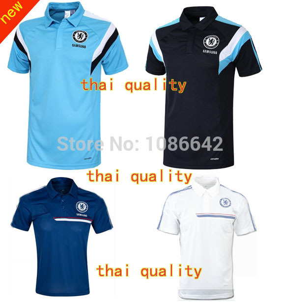 chelsea POLO shirt thai quality chelsea Training Jersey Soccer White Black blue chelsea polo T Shirts(China (Mainland))