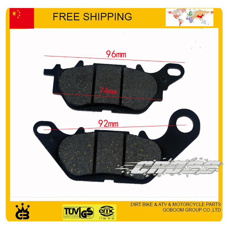125cc motorcycle front disc brake pads 2pcs YBR accessories PARTS FREE SHIPPING(China (Mainland))