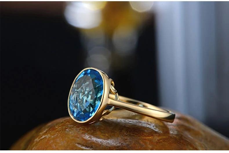 Caimao 18-каратного белого / 750 желтое золото 4.35 ст природный голубой топаз и кт полный cut бриллиантовое обручальное драгоценных камней ювелирные изделия кольца