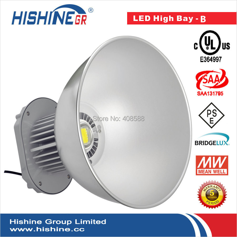 Free Shipping 10PCS Super Market Shopping Mall Using 100W Led High Bay UL Listed(China (Mainland))