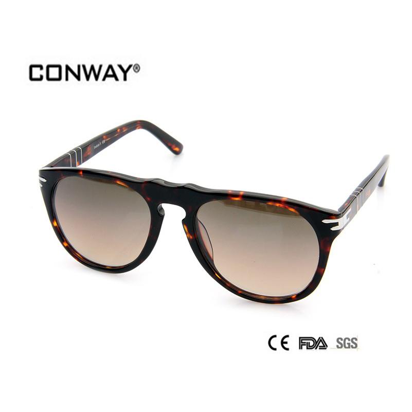2016 Fashion Acetate Sunglasses Men big size Design Top Quality Goggle Sunglasses women CN0002S-DEMI-BROWN(China (Mainland))
