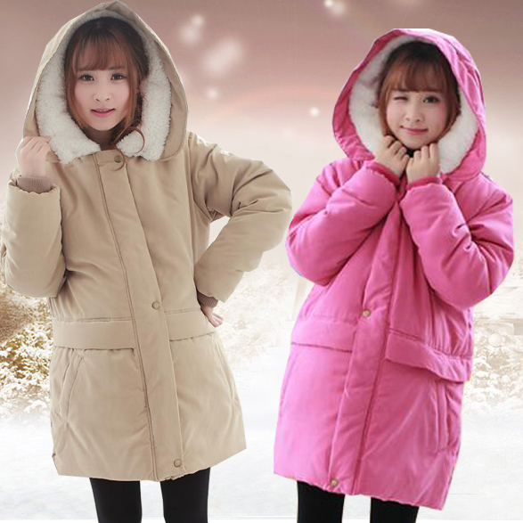 Maternity wool outerwear plus size maternity winter coats jackets for pregnant women polten maternity wear Hooded pregnant parka(China (Mainland))