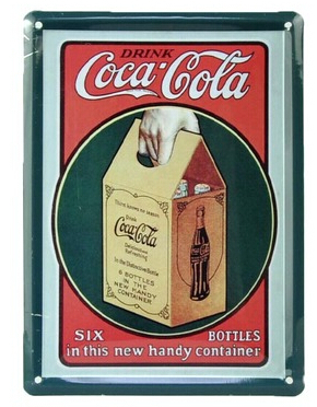 """Metal Art wall decor """"Coke hand container"""" Metal Tin signs painting vintage craft House Cafe Bar decoration 8*11CM Free Shipping(China (Mainland))"""