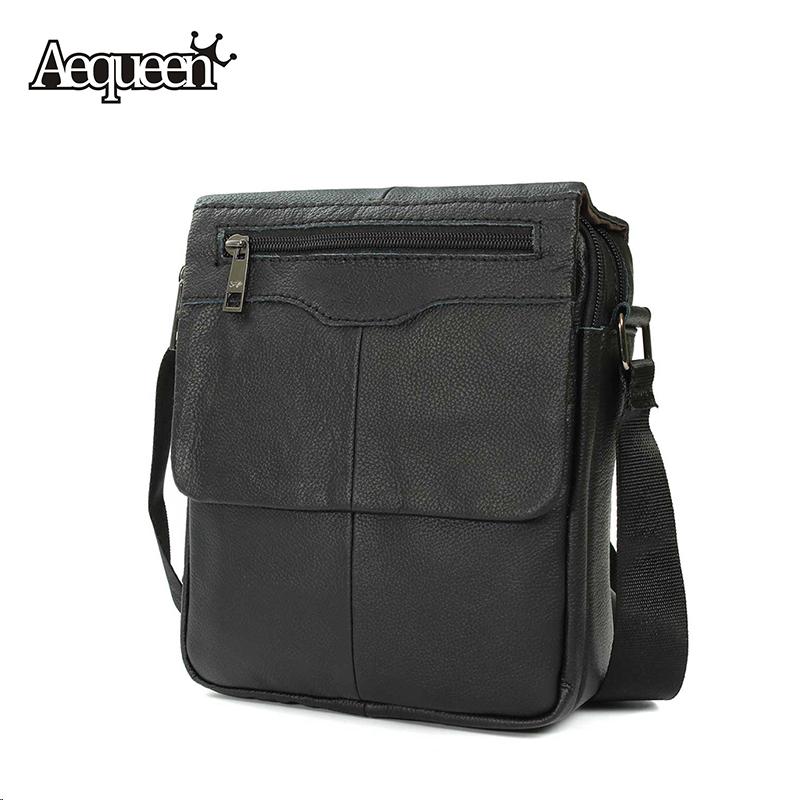 Genuine Leather Mens Shoulder Bag Hot Sale Male Crossbody New Business Style Man Bolsa Simple Black Zipper Messenger Bags(China (Mainland))