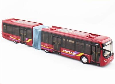 1:42 youth bus BRT bus rapid transit bus JNP6182G hinge model(China (Mainland))