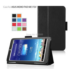 Stand leather case cover for Asus MeMO Pad ME172V 500pcs/lot free shipping(China (Mainland))