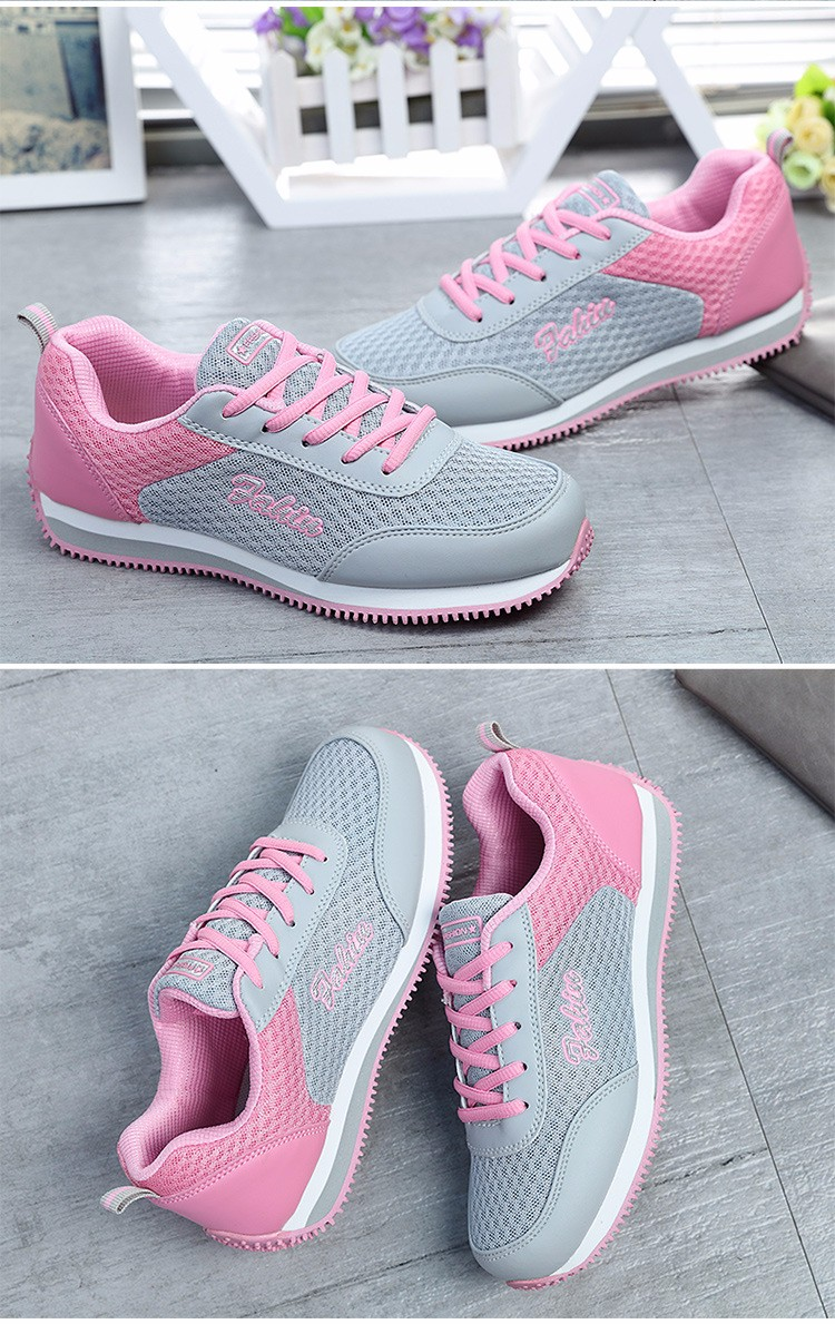 New Fashion Women Casual Shoes  2016 Air Mesh Comfortable Woman Shoes Classic Lace-up Breathable Flat Women Shoes ST413