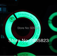 Luminous skoda ignition Car Ignition Switch keyhole cover decoration ring  sticker/sticker for skoda Auto parts
