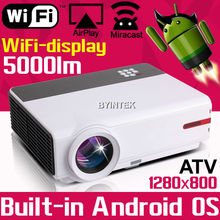 Online Watch Newest Movie Film Home Theater Play Game Smart 1080P TV Video HDMI USB LCD fuLL HD LED Android Wifi Projector