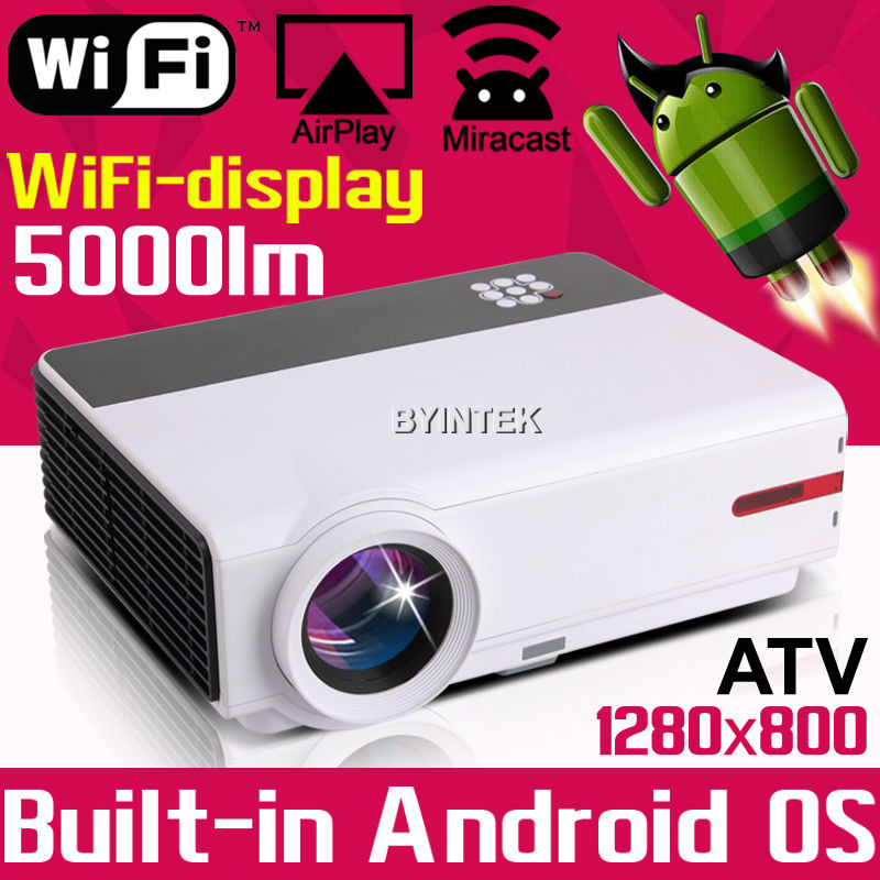 Online Watch Newest Movie Film Home Theater Play Game Smart 1080P TV Video HDMI USB LCD fuLL HD LED Android Wifi Projector(China (Mainland))