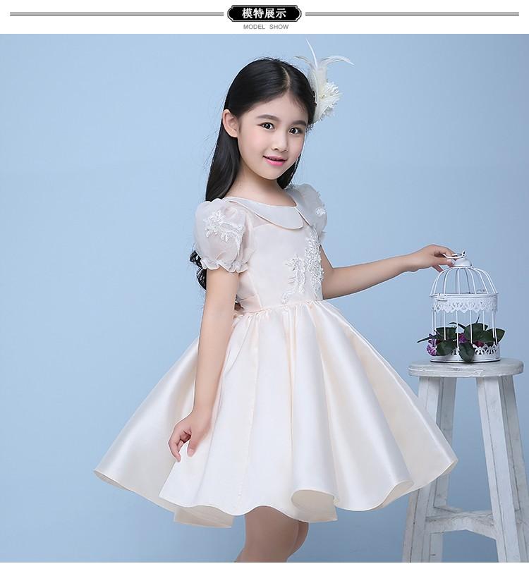 Скидки на Champnge аппликации цветок девочки платья для свадьбы день рождения слоеного рукав кукла воротник бальное платье pageant платья для девочек