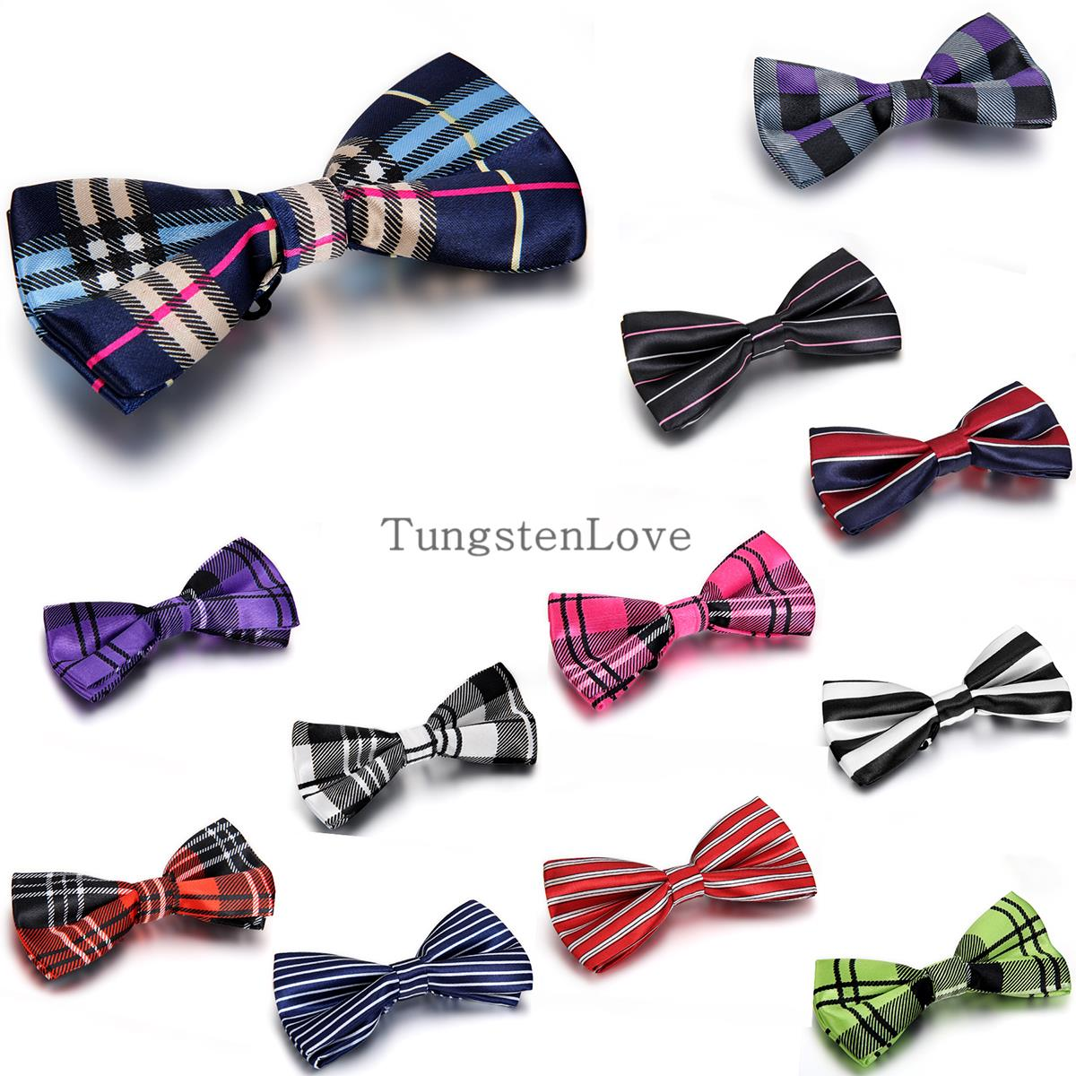 2015 Brand NEW Men's Imitation Silk Tuxedo Adjustable Striped Neck Bowtie Bow Ties for Men wedding party necktie butterfly(China (Mainland))