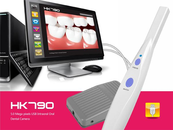 5.0 Mega Pixels High Resolution USB 6-LED Dental Intraoral Oral Camera with software Pedal Intra Oral Care Camera DHL Free Ship