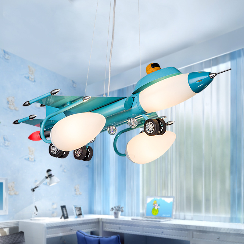 Hot creative cartoon iron plane study bedrooms for boys and girls children bedroom lamps led lighting<br><br>Aliexpress