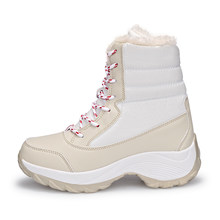 Mode dynamique bottes d'hiver femmes mode bottes de neige nouveau style chaussures pour femmes de haute qualité Plus velours chaud femmes bottes(China)
