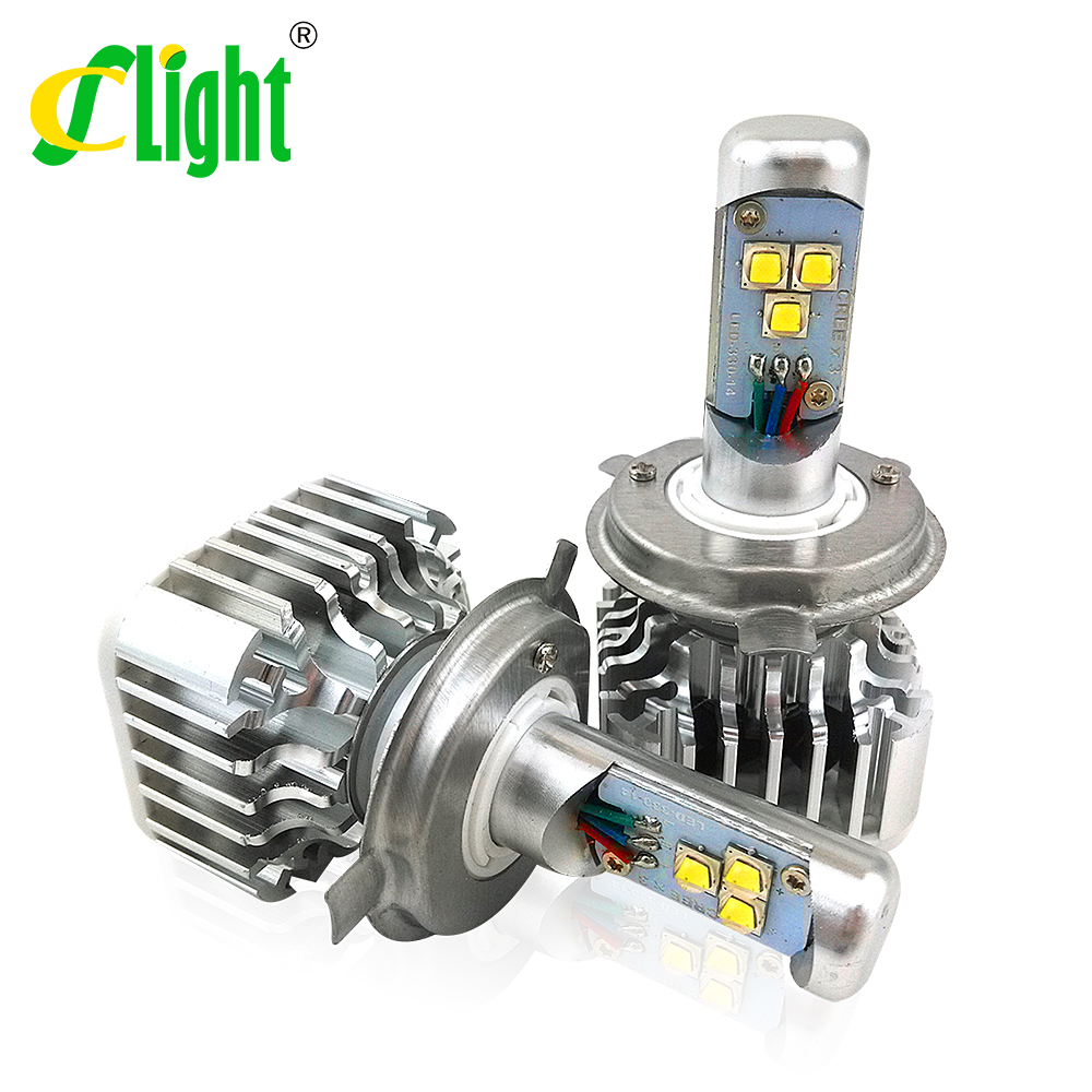 2x Plug&Play 30W 3000LM CREE LED H4 H4-3 HB2 9003 H7 H8/9/11 9005 HB3 9006 HB4 Xenon White 6000K Bulb DRL Fog Headlight Lamp Kit(China (Mainland))