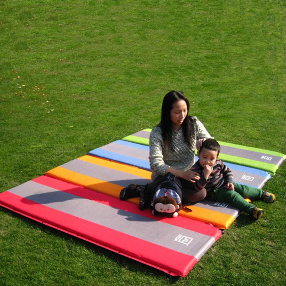 Self Inflate Foam Sleeping Mat Camping Mattress Air Bed Double Single Roll Up free shipping(China (Mainland))